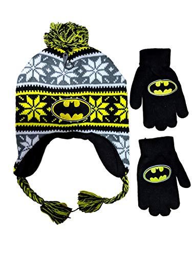 DC Comics Batman Beanie Hat and Gloves Set (Multi (Laplander))]()