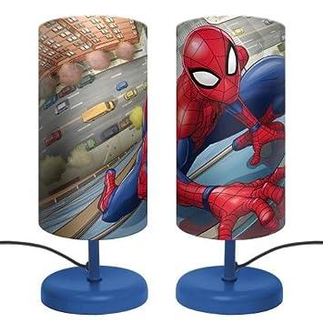 Lampe De Chevet Spiderman Motif Super Heros Marvel Amazon Fr Bebes