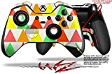 Triangles Citrus - Decal Style Skin fits Microsoft XBOX One ELITE Wireless Controller