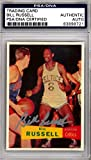 Bill Russell Autographed Signed 1957 Topps Rookie Reprint Card Celtics - PSA/DNA Certified - Basketball Autographed Cards