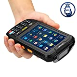 MUNBYN 3G 4G handheld android 7.0 POS terminal with touch screen NFC Function 2D honeywell barcode scanner wifi bluetooth GPS and charger cradle for delivery warehouse management