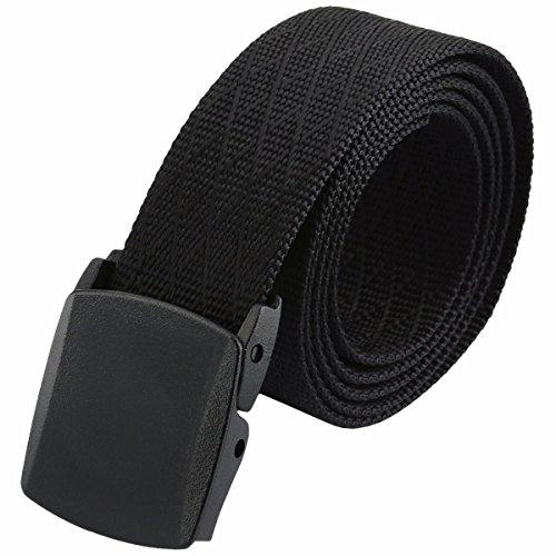 squaregarden Men's Nylon Webbing Military Style Tactical Duty Belt (Web Duty Belt)