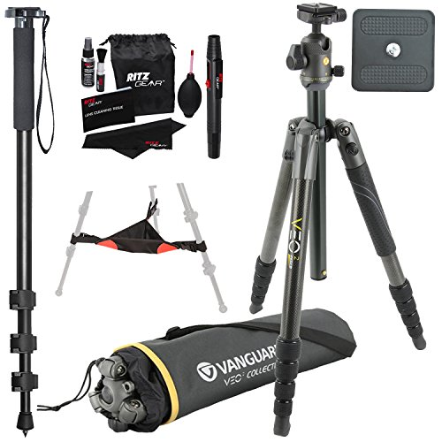 Vanguard VEO 2 265CB Carbon Fiber Tripod with VEO 2 BH-50 Ba
