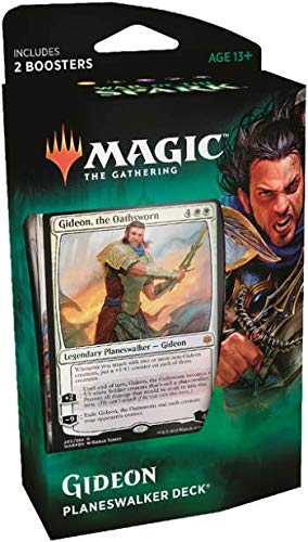 Magic The Gathering: MTG: War of the Spark Planeswalker Deck - Gideon (White/Black) w/Two Booster Packs