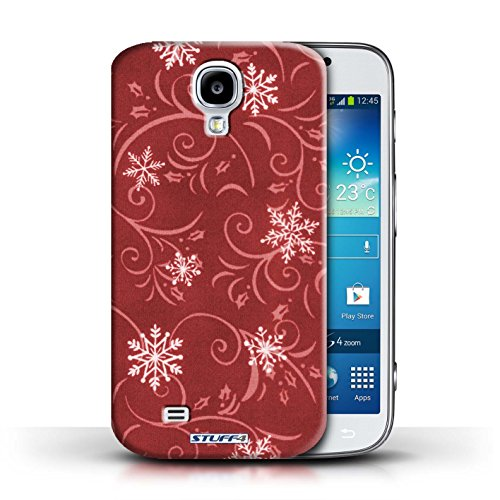 pour Samsung Galaxy S4/SIV / Rouge conception / Collection de Motif flocon de neige