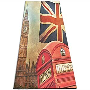 Amazon.com: Retro Big Ben National Flag Yoga Mat-All-Purpose ...