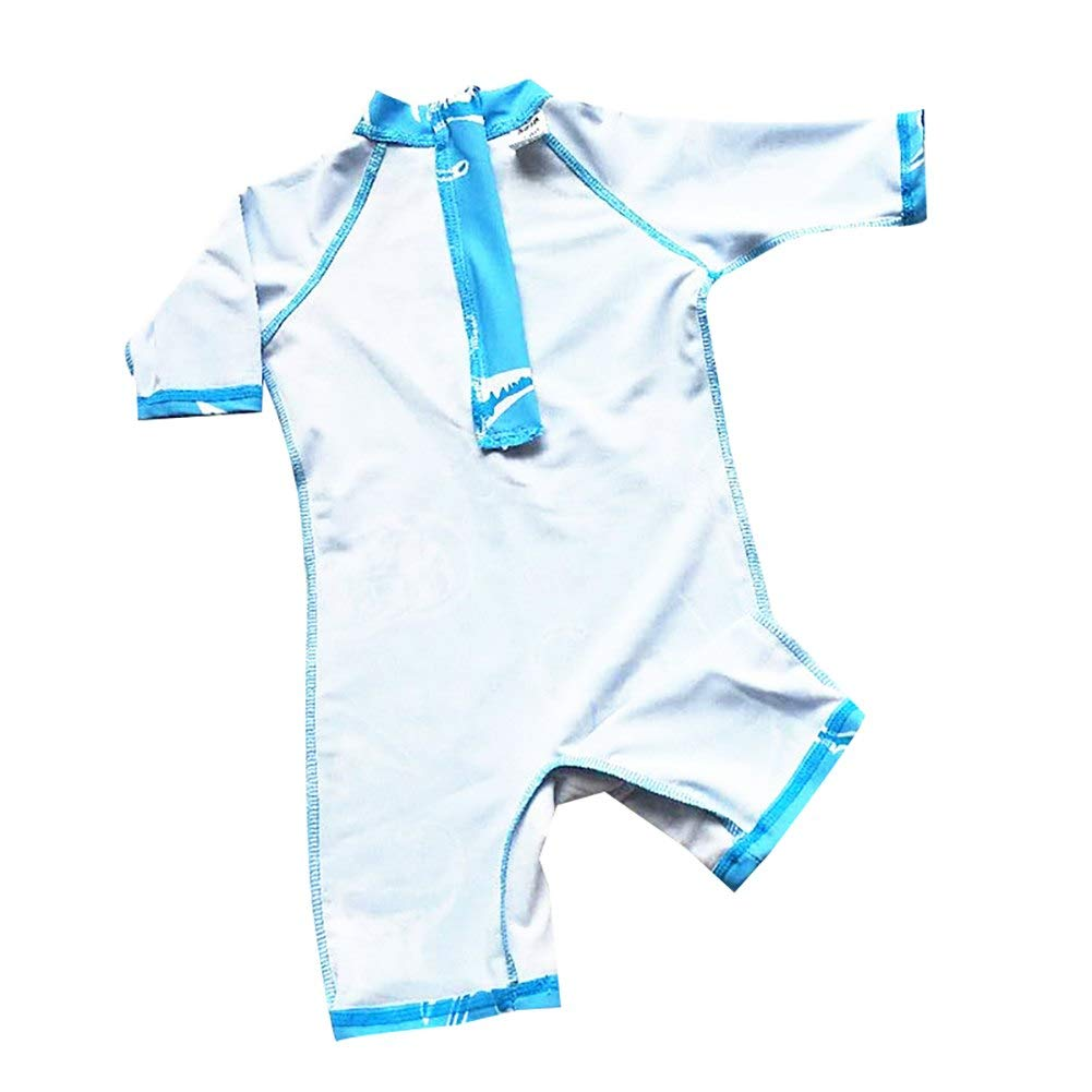 Baby Boys Dinosaur Surf One Piece Zip Rash Guard UV All-in-One Swimsuit Swimwear Bathing Suits Sunsets HC-SMS-113