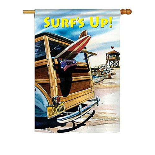 Breeze Decor - Beach Wagon Summer - Seasonal Fun In The Sun Impressions Decorative Vertical House Flag 28
