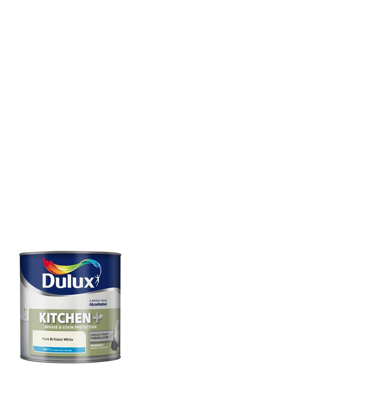 Dulux kitchen plus matt paint 2 5 l white pure brilliant for Kitchen paint colors dulux