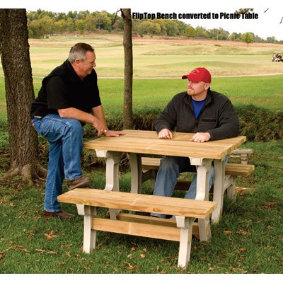 Amazing 2X4Basics Flip Top Benchtable Picnic Table And Bench Sand Cjindustries Chair Design For Home Cjindustriesco