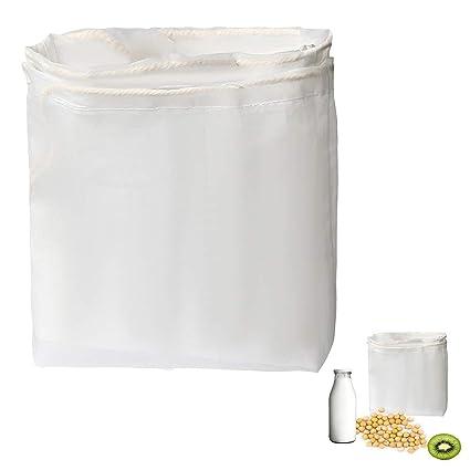 Siming 2 bolsas de leche para tuercas de nailon de malla fina y filtro profesional reutilizable