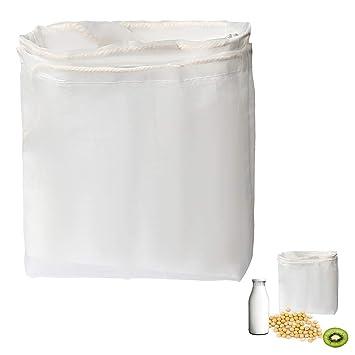 Compra Siming 2 bolsas de leche para tuercas de nailon de malla fina y filtro profesional reutilizable para leche de almendra, zumo, queso de cacao, ...