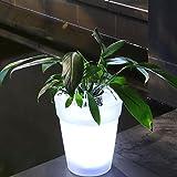 Tubwair Solar Illuminated Planter, Solar LED Flowerpot Light LED Solar Power Flowerpot Garden Landscape Lamp Outdoor Yard LED Landscape Light
