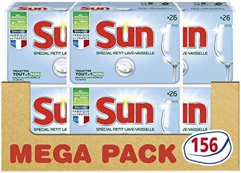 Sun - Tabletas para lavavajillas (156 lavados, 6 x 26 cm): Amazon ...