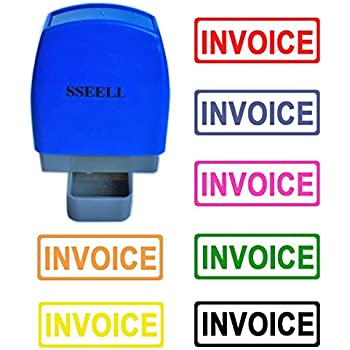 Amazoncom INVOICE Self Inking Rubber Stamp Office Stationary - Invoice stamp