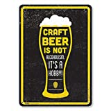 "PetKa Signs and Graphics PKCB-0071-NA_7x10 ""Craft Beer is NOT Alcoholism. Its a Hobby"" Aluminum Sign, 7 x 10"""