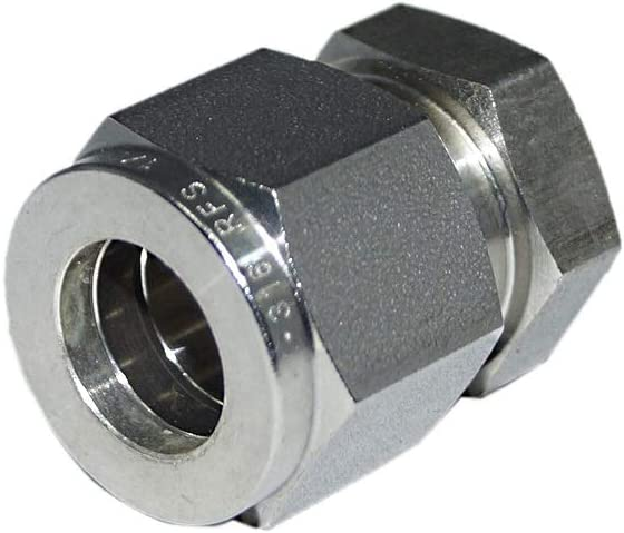 12.70MM OD Cap Stainless Steel SS316 Material 1//2OD Double Ferrule Fitting