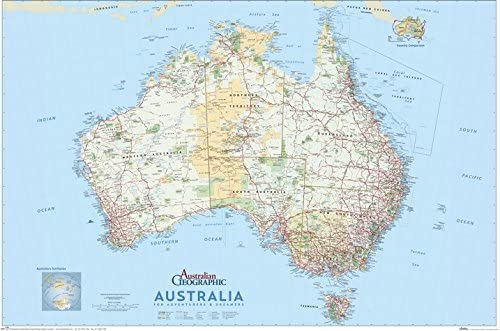 Australia Atlas Map.Australia For Adventurers And Dreamers Map Australian Geographic