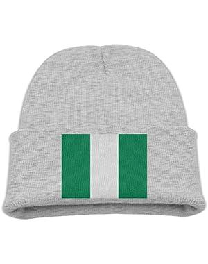 Flag Of Nigeria Kid's Hats Winter Funny Soft Knit Beanie Cap Children Unisex