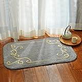 Hairy cushions bedroom door mats sanitary absorbent mats bath towels anti-slip mats thick -50*80cm b