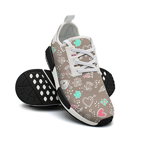 Mesh Doodle Womens Shoes Breathable Fashion Sneakers Sneakers Original Floral Shoes Lightweight TaxW0fqw