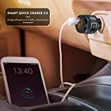 Bluetooth FM Transmitter for Car, QC3.0 Wireless Bluetooth FM Radio Adapter Music Player Car Kit with Hands Free Calling and 2 USB Ports Charger Support USB Flash Drive