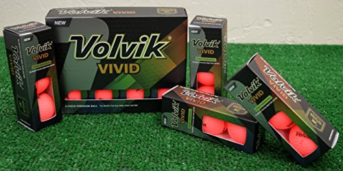 Volvik 4 Dozen Vivid Matte Pink Golf Balls - New in ()