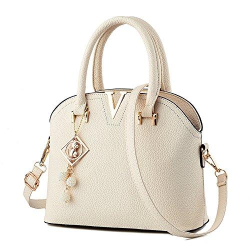 V PU Sac sac Metals à cuir main bandoulière à blanc Myleas en p0w7nW7Yv