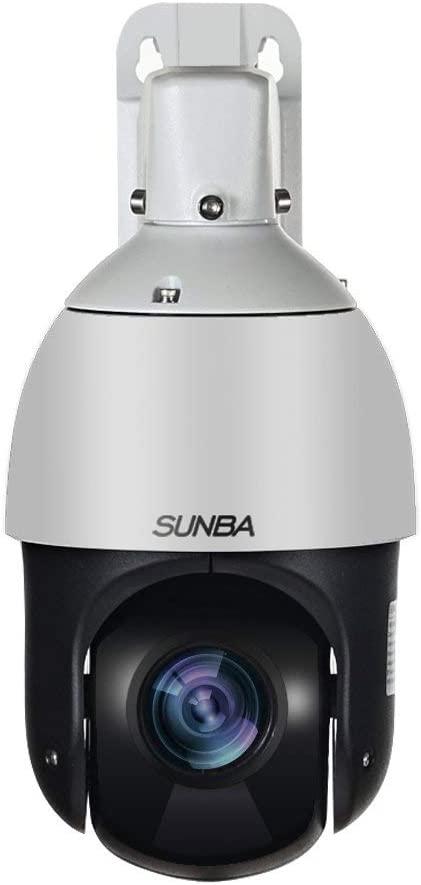 SUNBA 20X Optical Zoom PoE Mini Outdoor PTZ Camera, H.265 H.264 1080p High Speed ONVIF Security Dome, Auto-Focus and 328ft Night Vision 405-D20X