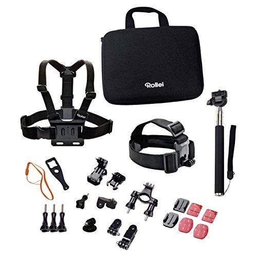 Rollei Actioncam Zubehör Set Outdoor - Ideal zum Klettern, Wandern und andere Outdoor-Aktivitäten - Für Rollei Actioncams und GoPro