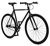 Retrospec Critical Cycles Harper Single-Speed Fixed Gear Urban Commuter Bike; 57cm, Matte Black