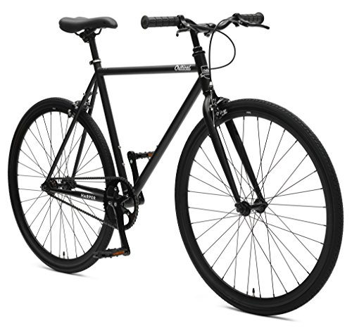 Retrospec Critical Cycles Harper Single-Speed Fixed Gear Urban Commuter Bike; 43cm, Matte Black