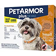 PETARMOR Plus for Dogs Flea and Tick Prevention for Small Dogs (5-22 Pounds), Long-Lasting & Fast-Acting Topical Dog Flea Treatment