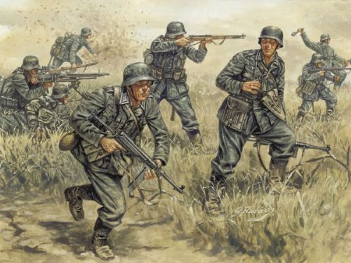 (Italeri German Infantry WWII Model Kit)