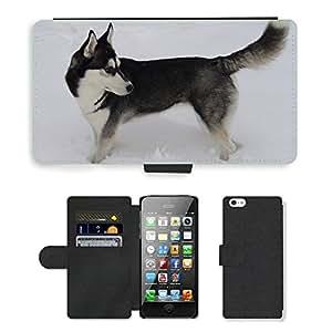 hello-mobile PU LEATHER case coque housse smartphone Flip bag Cover protection // M00137418 Perro husky siberiano de la nieve // Apple iPhone 5 5S 5G