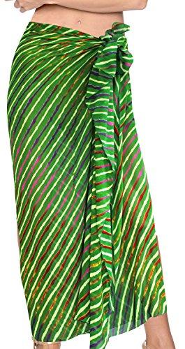 trajes de baño bikini de encubrir el vestido del traje de baño traje de baño de la falda del abrigo de baño traje de pareo Verde