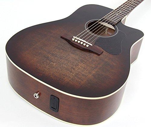 Art Wood Series Acoustic Guitar - Art & Lutherie Americana Series CW QIT Acoustic-Electric Guitar Bourbon Burst