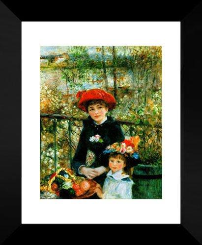 Two Sisters on the Terrace 20x24 Framed Art Print by Renoir, Pierre Auguste (Pierre Auguste Renoir Terrace The On)
