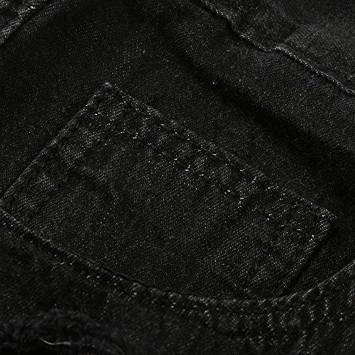 Zip In Elasticizzati color M Da Battercake Distressed Slim Size Ne Comodo Pantaloni Fray Skinny Jeans Uomo Nero Denim Con ZEqqY4vw