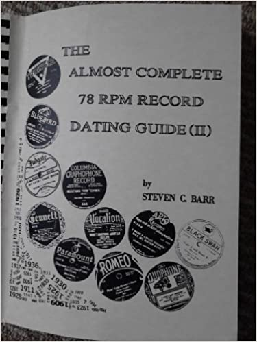 The almost complete 78 rpm dating guide