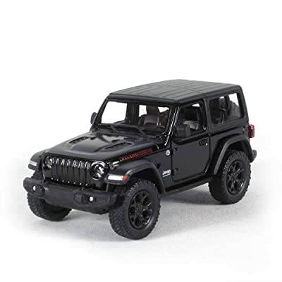 "DCX 5"" Die-cast: 2020 Jeep Wrangler Rubicon Hard Top (Black) 1/34 Scale: Toys & Games"