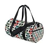 AURELIOR Raccoon Gym Duffle Bag Drum tote Fitness Shoulder Handbag Messenger Bags