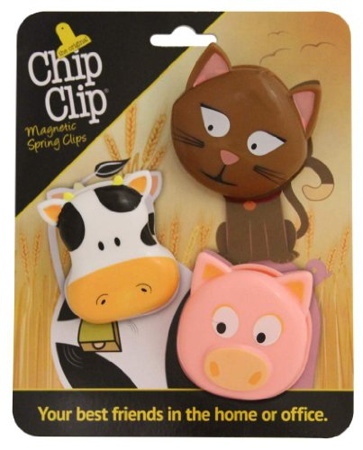 Chip Clip Animal Clips, Your Best Friends in the Home or Office (2.5 X 3, Farm) (Pig Clip)
