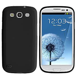 MINITURTLE, Colorful Lightweight Slim Fit Flexible TPU Phone Case Cover, Stylus Pen, and Clear LCD Screen Protector Accessory Bundle for Android Smartphone Samsung Galaxy S3 III I9300 (Black)