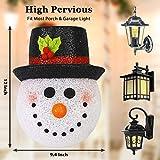Seniny Christmas Porch Light Cover 2 Pack, Snowman
