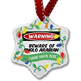 Personalized Name Christmas Ornament, Beware of the Anglo-Arabian, Horse NEONBLOND