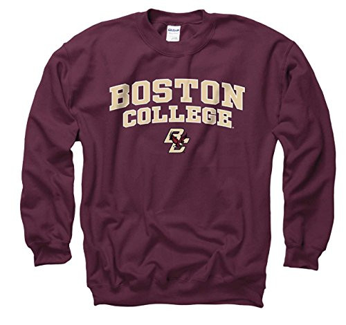 Boston College Eagles Adult Arch & Logo Gameday Crewneck Sweatshirt - Maroon