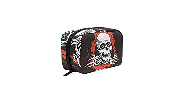 Amazon.com : LORVIES Creepy Skull Cosmetic Pouch Clutch Makeup Bag Travel Organizer Case Toiletry Pouch for Women : Beauty