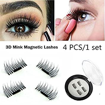 755384dcc99 Buy SBE 3D Magnetic short Fake Eyelashes, Reusable False Eyelashes, No Glue  Lash Enhancer Beauty Makeup Tool- 4pcs/set (Short Eyelash) Online at Low  Prices ...