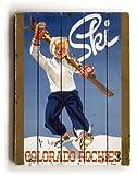 "ArteHouse planked wood sign 18"" x 24"" Vintage Colorado Ski Wall Décor"